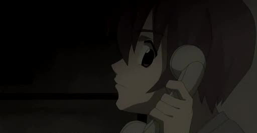 Higurashi Kei on the phone dark 2